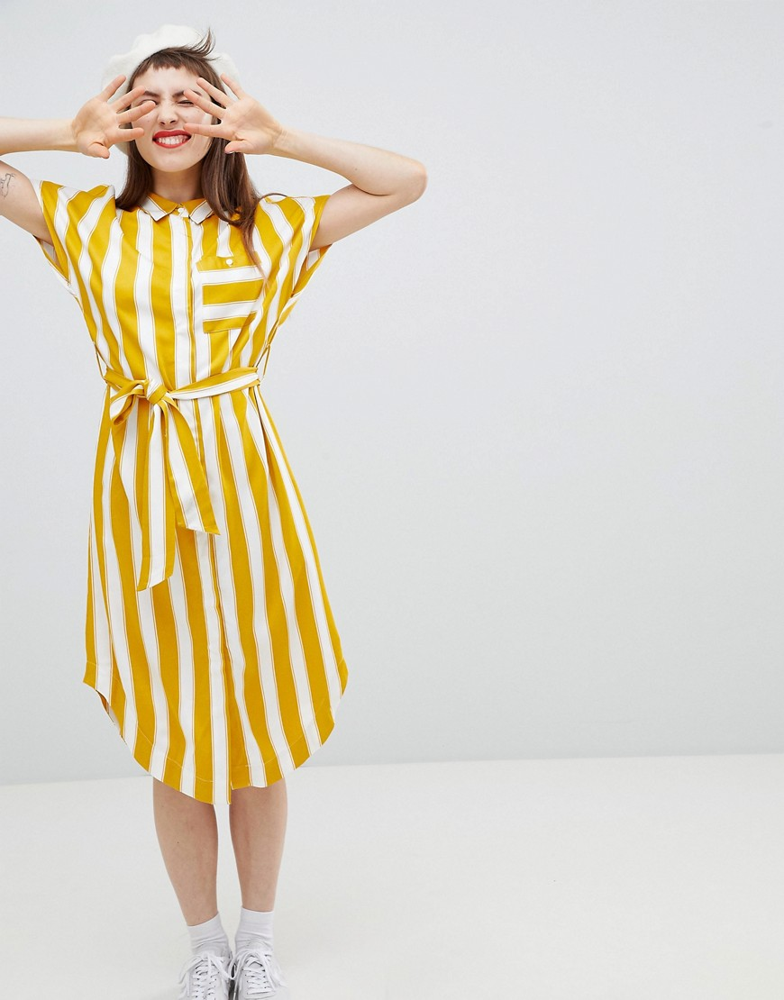 Monki Stripe Shirt Smock Dress by Monki