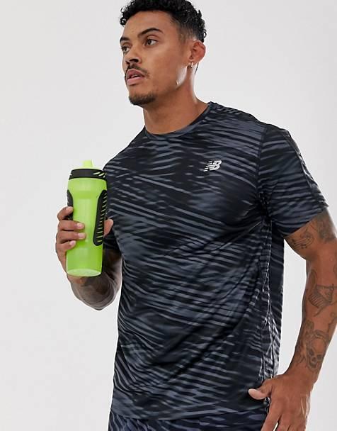New Balance Running accelerate t-shirt in black print