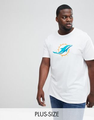 Image 1 of New Era NFL Miami Dolphins T-Shirt in White