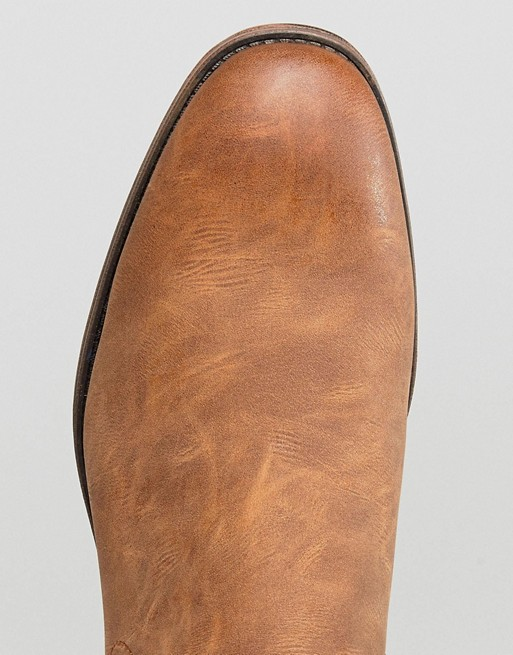 New Look - Bottines chelsea à crampons - Fauve