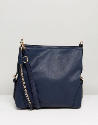 Image 1 of New Look Chain Strap Slouch Bag