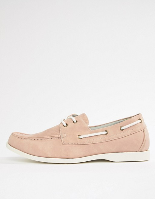 New In Faux Shoes Suede Pink Boat Look Light rrpTv