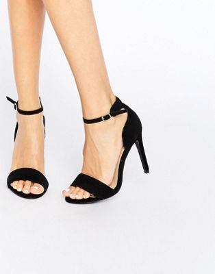 Image 1 of New Look Suedette Barely There Heeled Sandal