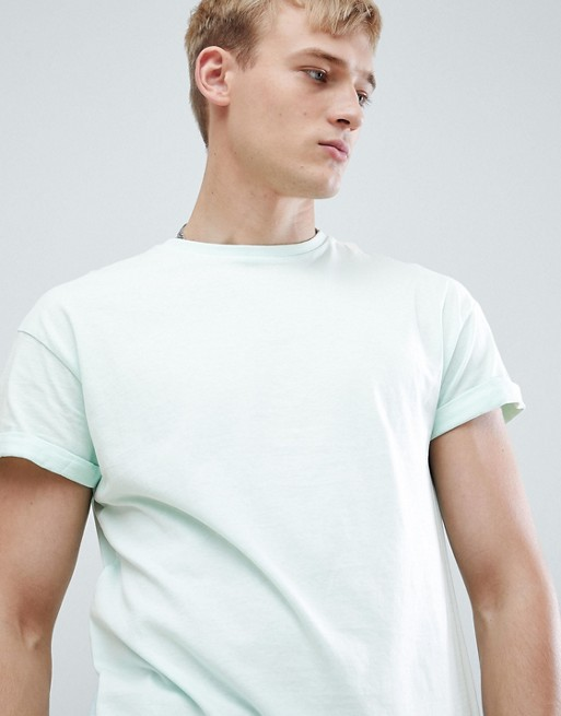 Mint Green Look shirt With Roll New In Sleeve T CzHAxwwqF