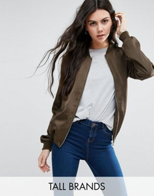 Image 1 of New Look Tall Sateen Bomber