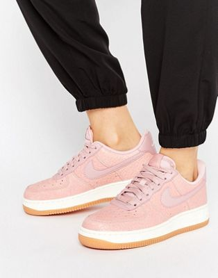 Image 1 of Nike Air Force 1 Premium Trainers In Pink