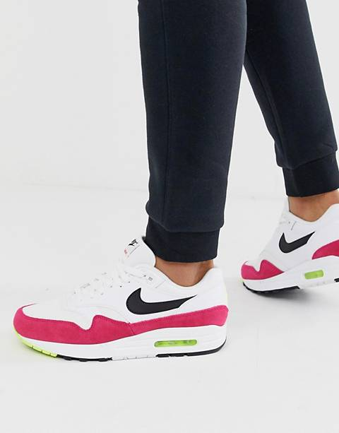 Nike air max 1 trainers in white