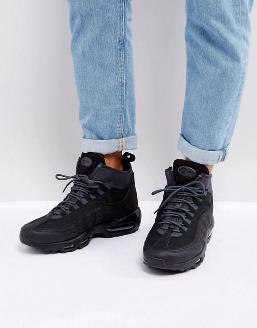 Nike - Air Max 95 - Baskets mi-hautes style bottines - Noir 806809-001 wkucPgEnz
