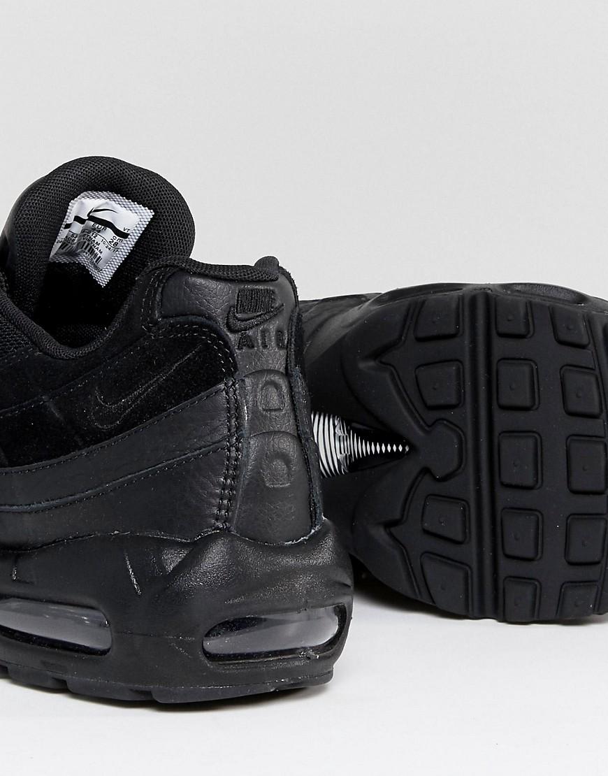 Nike Air Max 95 Premium Sneakers In Black 538416 012 by Nike