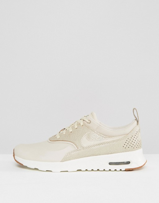 nike air max thea baskets nattées avoine