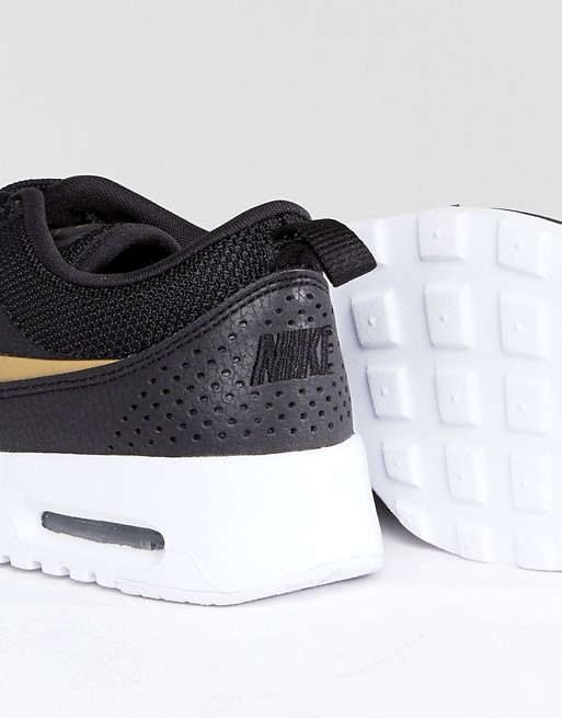 Nike Gold Max Black Trainers Air In Thea And r0qr45