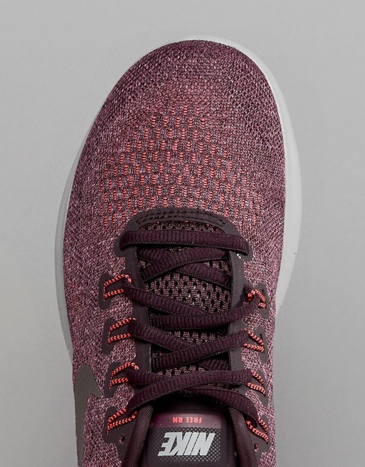 Nike Running - Free Run - Baskets - Bordeaux