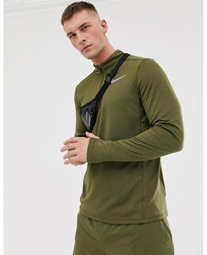나이키 Nike Running Pacer Half Zip Sweat In Khaki 928411-395,Green