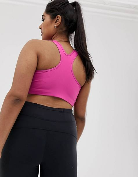 Nike Training Plus Classic Swoosh Bra In Pink