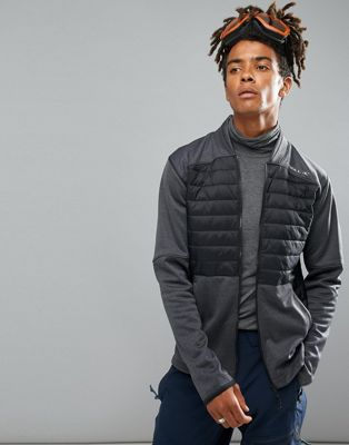 Image 1 of O'Neill Activewear Kinetic Quilted Sweat Jacket in Black/Gray