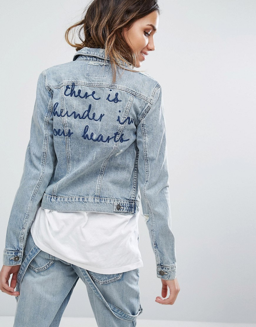Only | Only Embroidered Denim Jacket