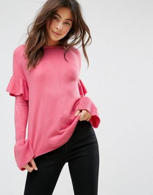 Image 1 of Only Ruffle Sleeve Sweater