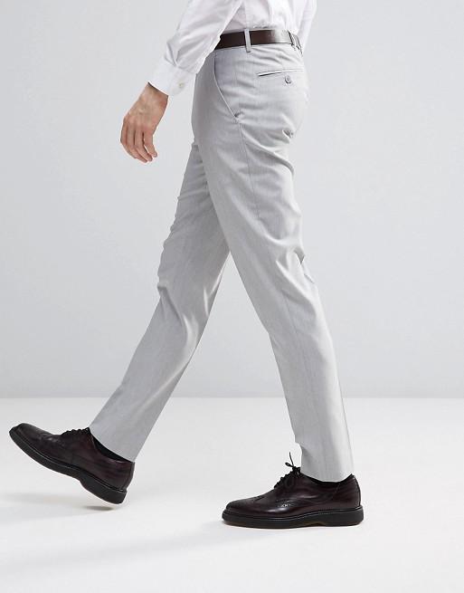 Pack de 2 pantalones de vestir ajustados en azul claro y gris claro de ASOS, AHORRA