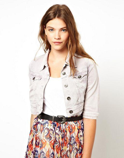 Image 1 of Pepe Jeans Coloured Denim Jacket