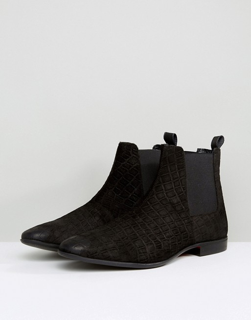 sale 100% guaranteed Pier One Leather Chelsea Boots In Black collections sale online cheap latest collections msbZ5A