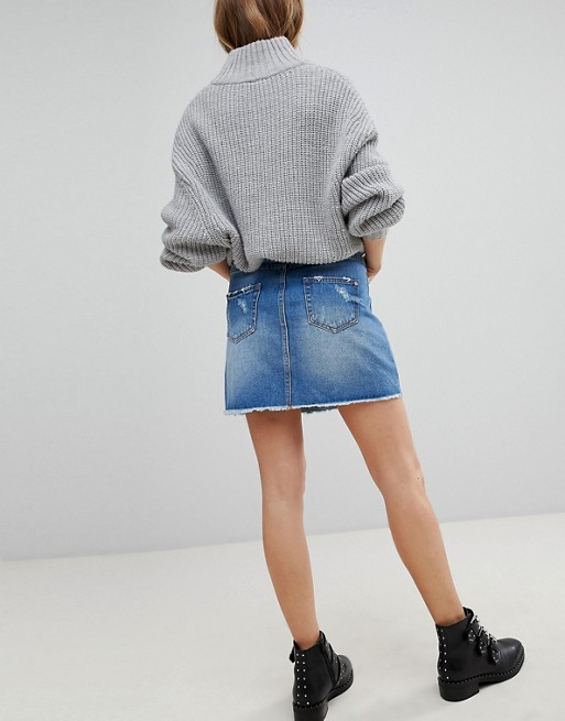 Distressed Pimkie Skirt Denim Mini Denim Distressed Pimkie Skirt Pimkie Denim Skirt Mini Mini Distressed xngFAa0wqZ