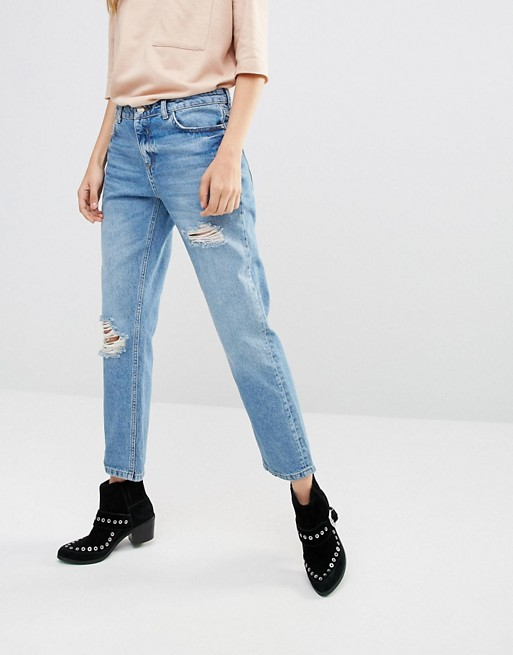 Home; Pimkie Distressed Mom Jeans. image.AlternateText