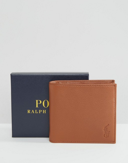 Home Polo Ralph Lauren Leather Billfold Wallet In Coin Pocket  imageAlternateText