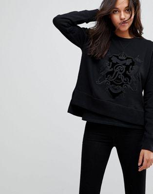 Image 1 sur Polo Ralph Lauren - Sweat-shirt avec logo armoiries en velours