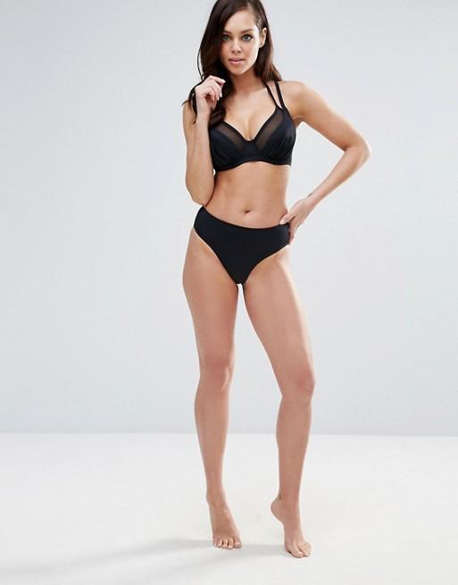 Pour Moi - Haut de bikini convertible à bretelles doubles, bonnets B à G