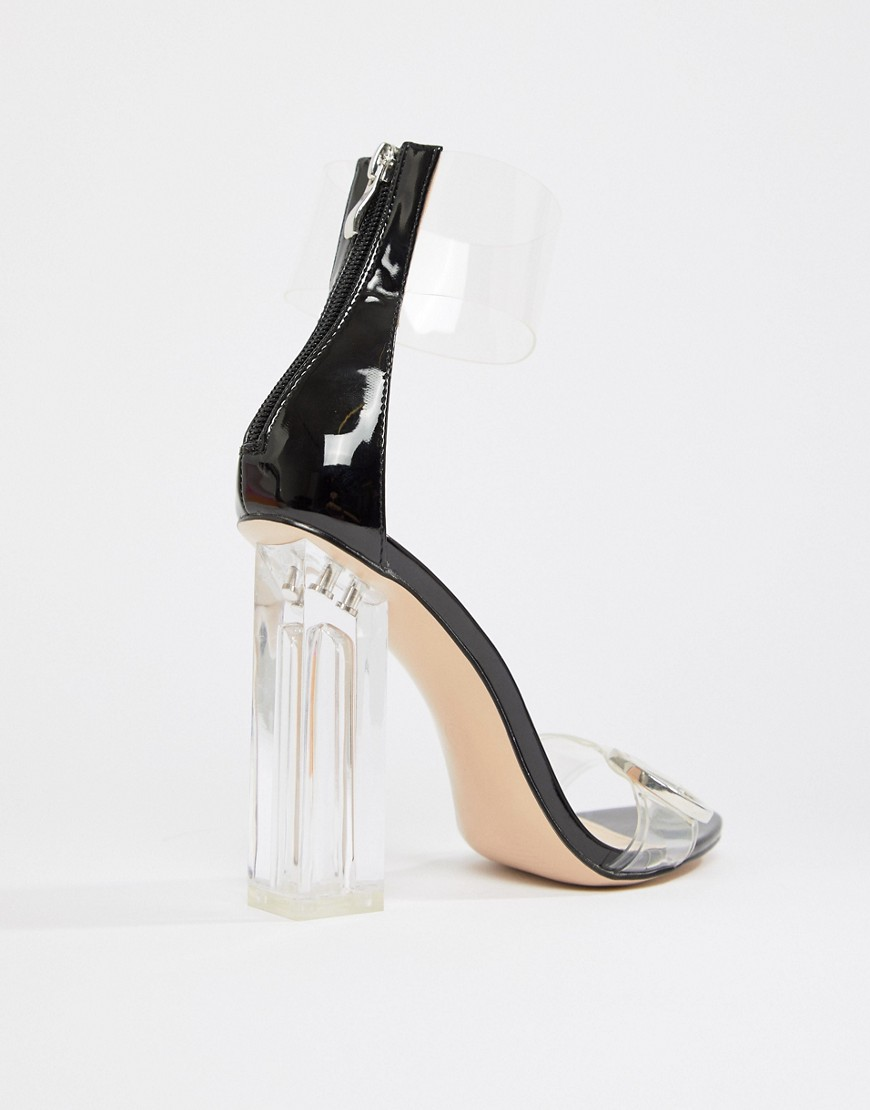 Public Desire Mega Clear Detail Heeled Sandals by Public Desire