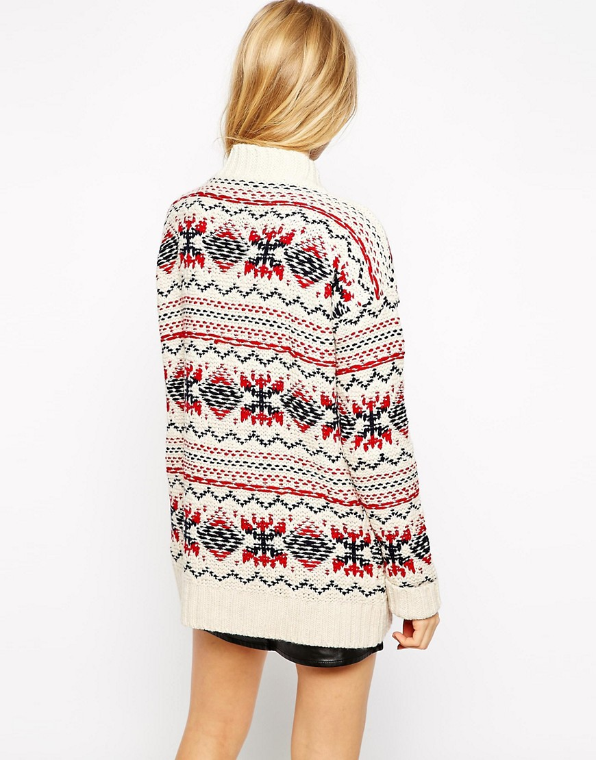 Pull&Bear | Pull&Bear Chunky Patterned Cardigan