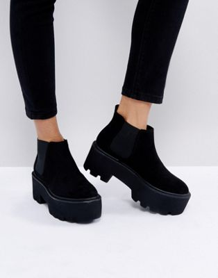 Image 1 of Pull&Bear Flatform Ankle Boot