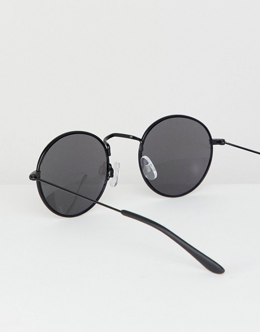 amp;Bear Round Sunglasses Pull amp;Bear Black In Pull dqS7d