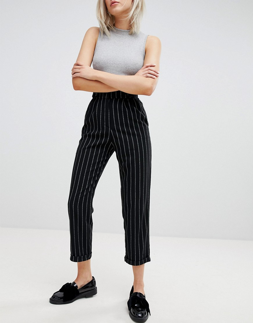 Pull&Bear Stripe High Waisted Trouser by Pull&Bear