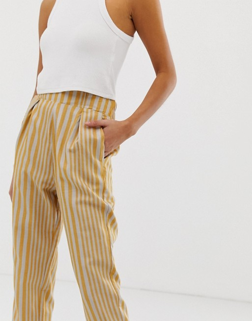 Leg Trousers Striped amp;bear Pull Peg q4xXHqF