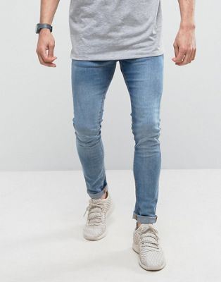 Image 1 of Pull&Bear Super Skinny Jeans In Mid Wash Blue