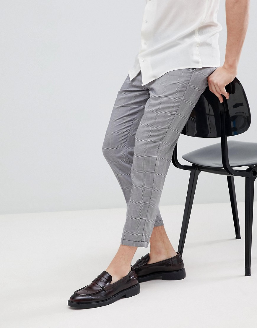 Pull&Bear Tailored Pants In Gray Check by Pull&Bear
