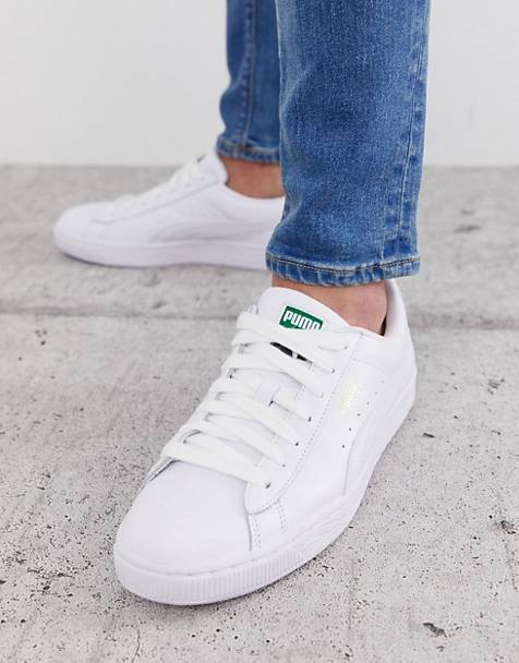 Puma Basket Classic trainers in white leather