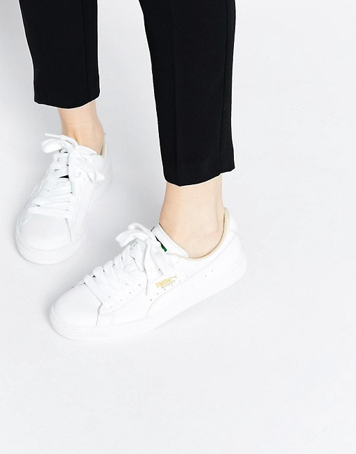 Home; Puma Basket Classic White Sneakers. image.AlternateText