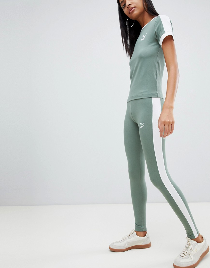 Puma Classics Tight Green T Shirt & Leggings by Asos Brand