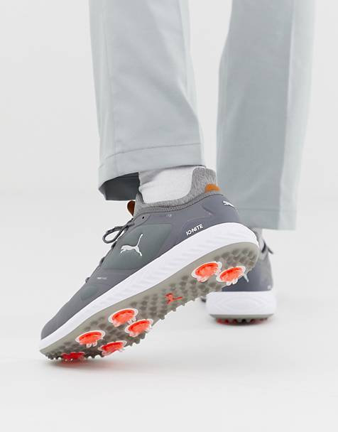 Puma Golf Ignite Power Adapt Spike Trainers In Grey 18989103