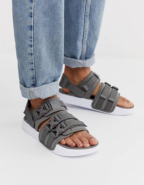 Puma Leadcat YLM 19 tech sandals in grey
