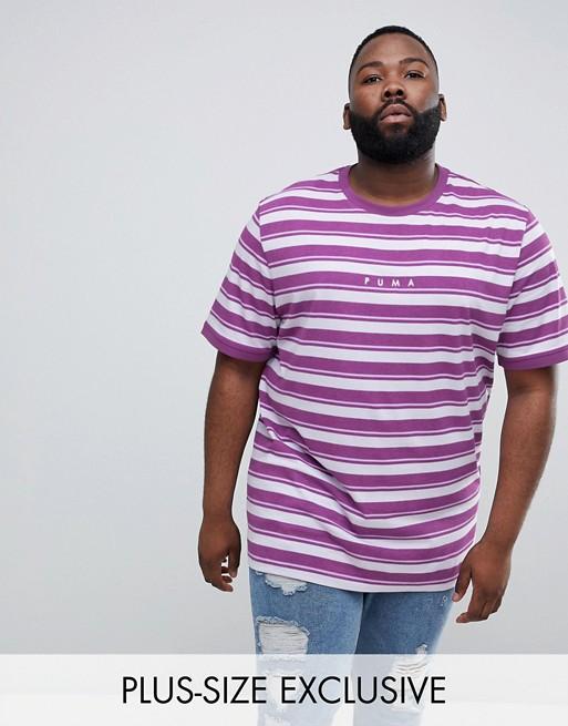 Puma PLUS - Exclusivité T-shirt à rayures style rétro - Violet