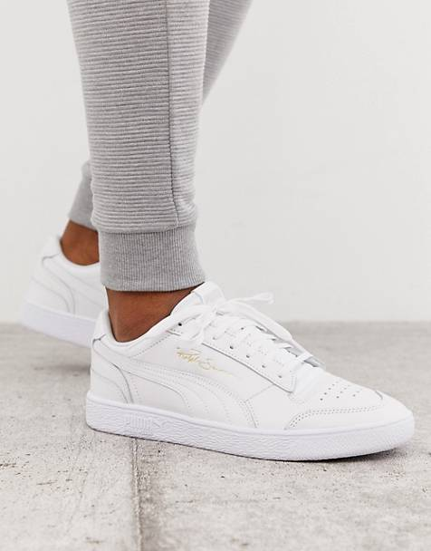Puma Ralph Sampson Lo trainers in triple white
