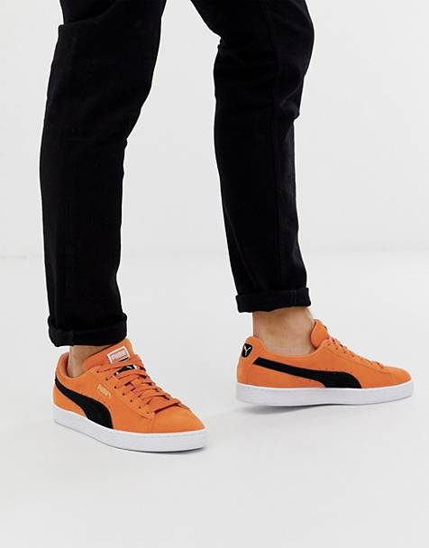 Puma Suede Classic trainers in orange