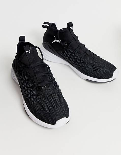 Puma training mantra trainers in black