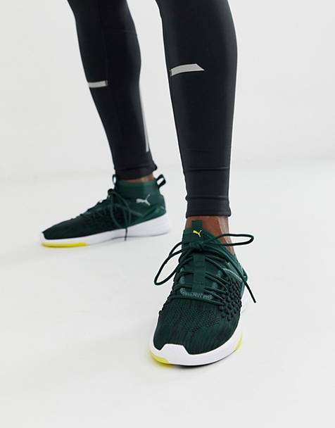 Puma training mantra trainers in green
