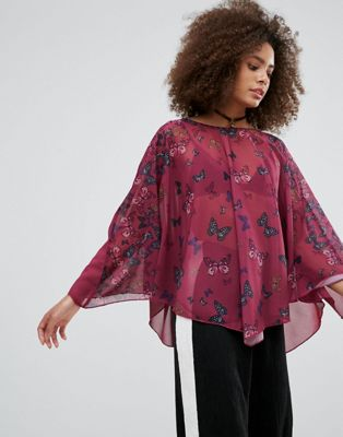 Image 1 of QED London Butterfly Print Tunic