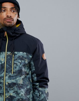 Image 1 of Quiksilver Mission Block Ski Jacket in Anicamo
