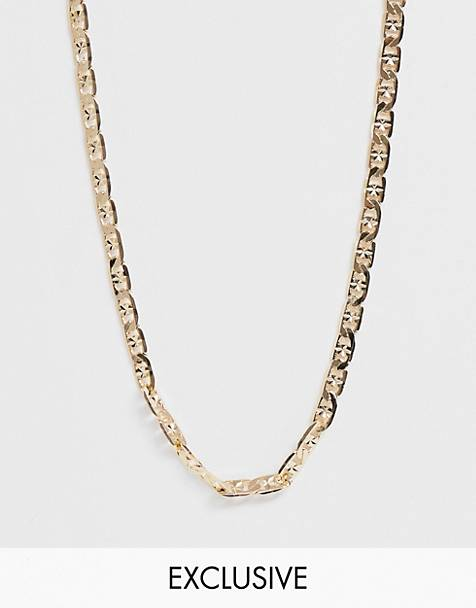 Reclaimed Vintage inspired neckchain in shiny gold tone exclusive at ASOS